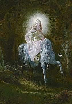 Cover image of the Fairy Queen from Thomas the Rhymer, by Joseph Noel Patton