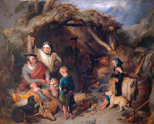 Figure 2. Sir Edward Landseer, The Illicit Highland Whisky Still (c.1829). Wellington Collection at The Apsley House.