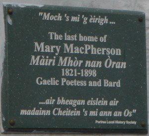 Mary MacPherson headstone
