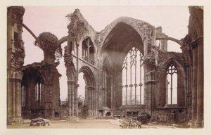 Figure 7. Melrose Abbey albumen print