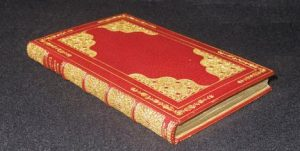 The Kilmarnock rebound: full red morocco, gilt, by Rivière (ca. 1900) Image courtesy of the G. Ross Roy Collection, University of South Carolina (photo: Robert Smith)